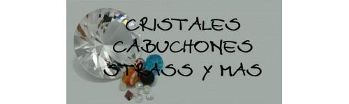 Abalorios,cabujones y strass en cristal